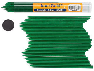 36 Pack of 2.0 mm Green Colored Lead Refills