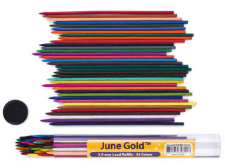36 Pack of 2.0 mm Assorted Colored Lead Refills