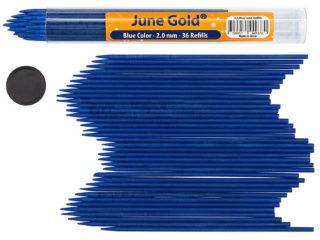 36 Pack of 2.0 mm Blue Colored Lead Refills