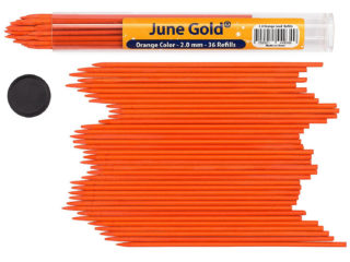 36 Pack of 2.0 mm Orange Colored Lead Refills