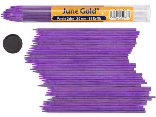 36 Pack of 2.0 mm Purple Colored Lead Refills