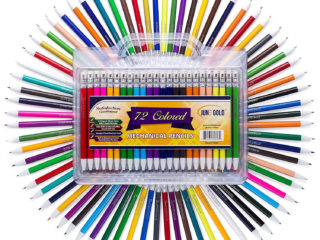 72 Pack of 2.0 mm Assorted Colored Mechanical Pencils