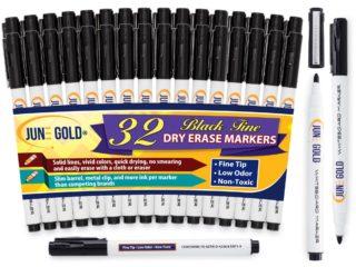 32 Pack of Black Fine Tip Dry Erase Markers