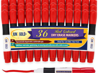 36 Pack of Red Chisel Tip Dry Erase Markers