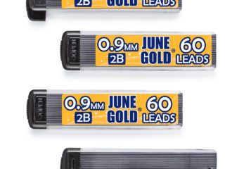 240 Pack of 0.9 mm 2B Graphite Lead Refills