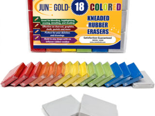 18 Pack of Colored Kneaded Rubber Erasers