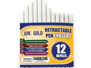 12 Pack of Retractable Eraser Refills